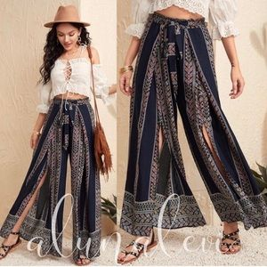 Pants - New🌻Boho Print pants/maxi skirt